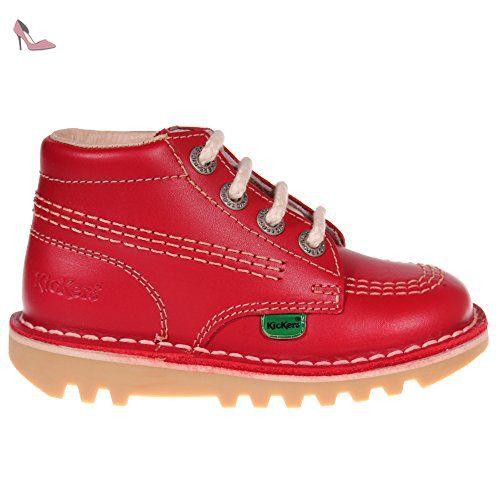 pour enfant pour Kick Hi cuir KICKERS Rouge bébé bottes 8OvmNwn0