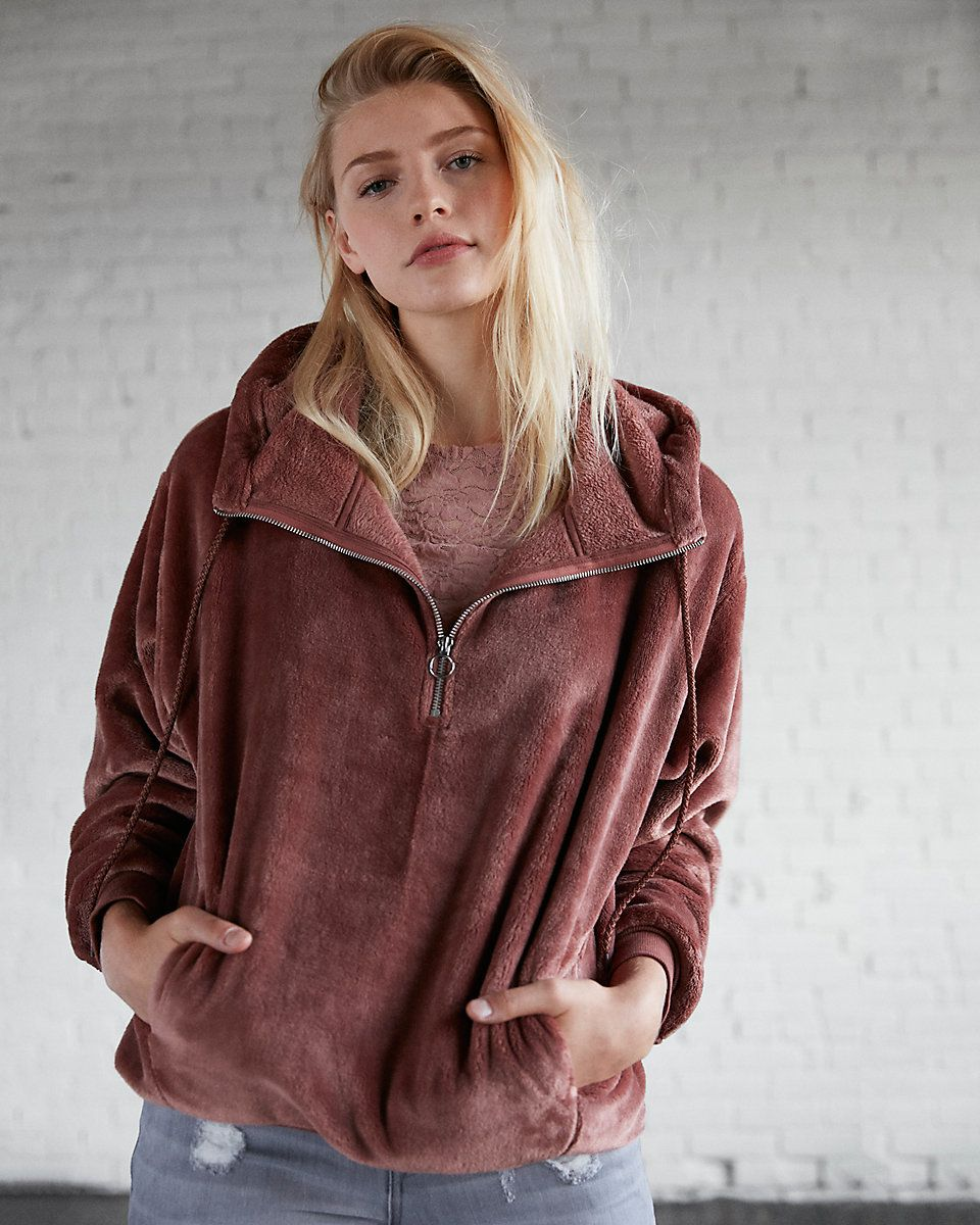 Express One Eleven Oversized Cozy Hooded Sweatshirt :: 40% off ...