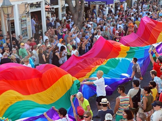 Parada Gay na Flórida, nos EUA (Foto: Getty Images)
