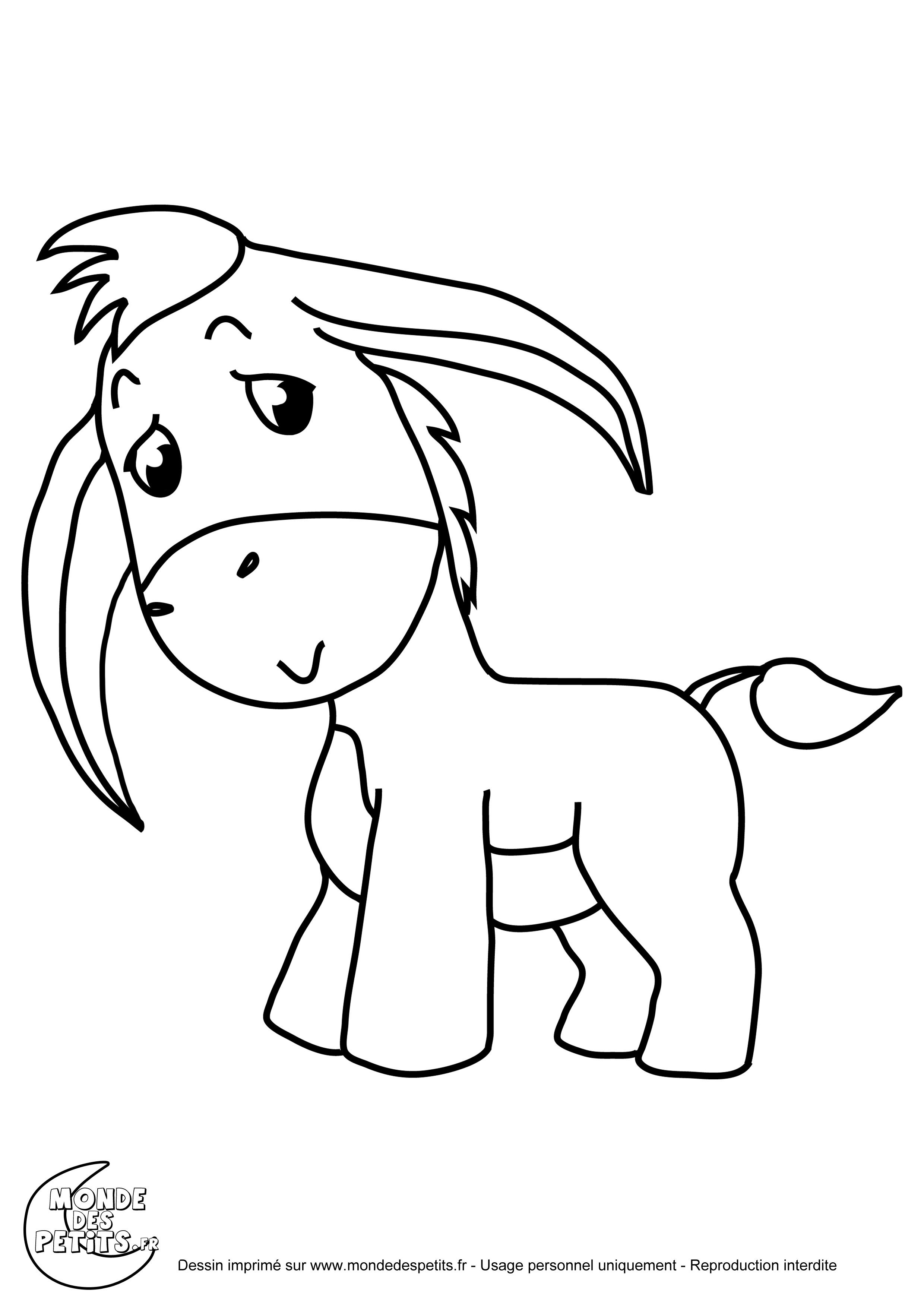 Coloriage animaux le petit ne coloriage pinterest - Dessin d animeaux ...