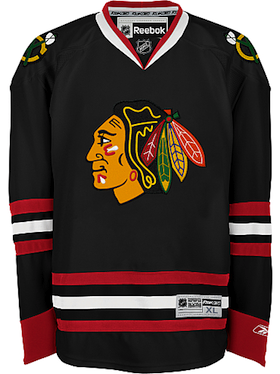 cd360aea2 Men s Chicago Blackhawks Blank Reebok Black Premier Alternate Jersey ...