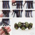 Ideas creativas - DIY Colorful Wave Macrame con cuentas pulsera