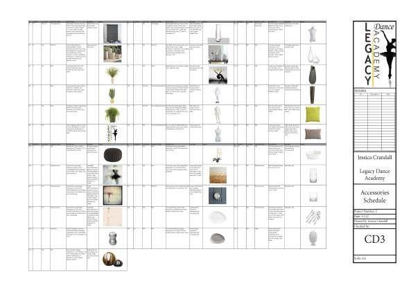 accessories schedule layout interior design institute