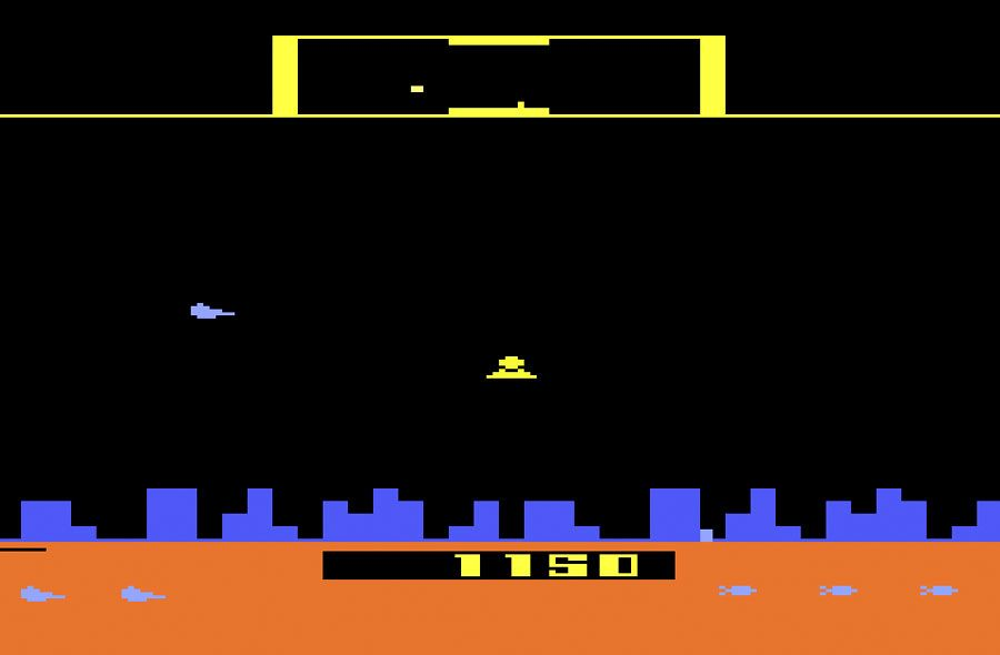 Game Review Atari Defender For Atari 2600 Classic Gaming