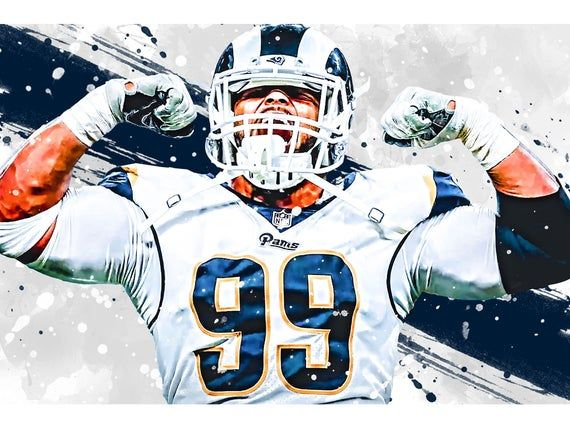 Aaron Donald Los Angeles Rams Poster Print Sports Art Etsy In 2020 Chicago Cubs Posters Cubs Poster Poster Prints