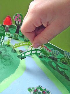 small world land: Monet's Miniature Magnetic Giverny Garden - made from shrinks dinks paper