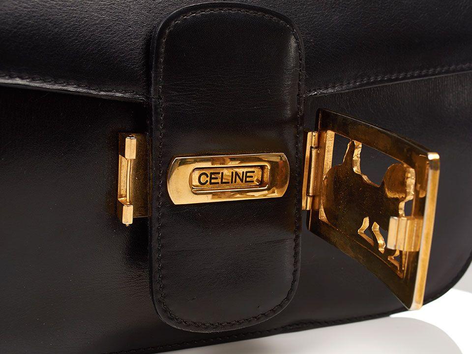 superior quality 395f7 826c4 Vintage Celine box bag detail of opening clasp hardware ...
