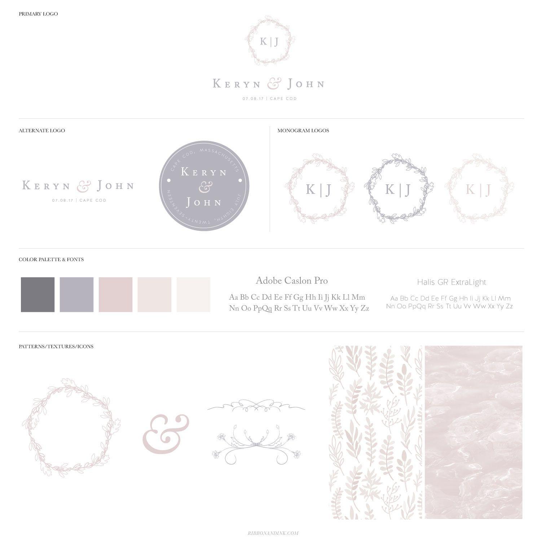 Wedding Branding Ideas: Pink And Lavender Custom Wedding Brand And Invitation