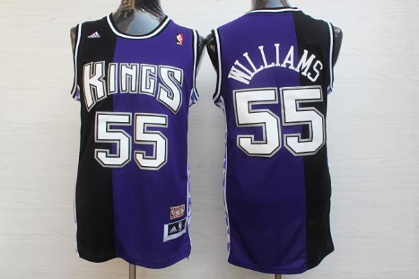 bdb0214f7 NBA Sacramento Kings 55 Jason Williams Nike Purple Jersey ...