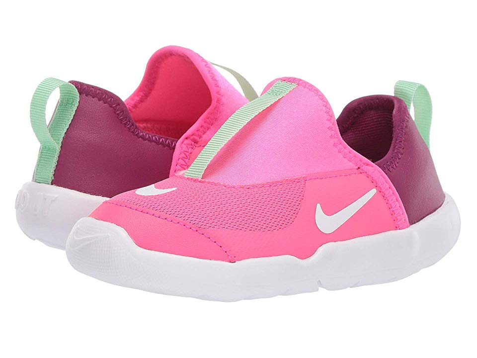 61e3d00b46bb Nike Kids Lil  Swoosh (Infant Toddler) Girls Shoes Hyper Pink White Aphid  Green True Berry