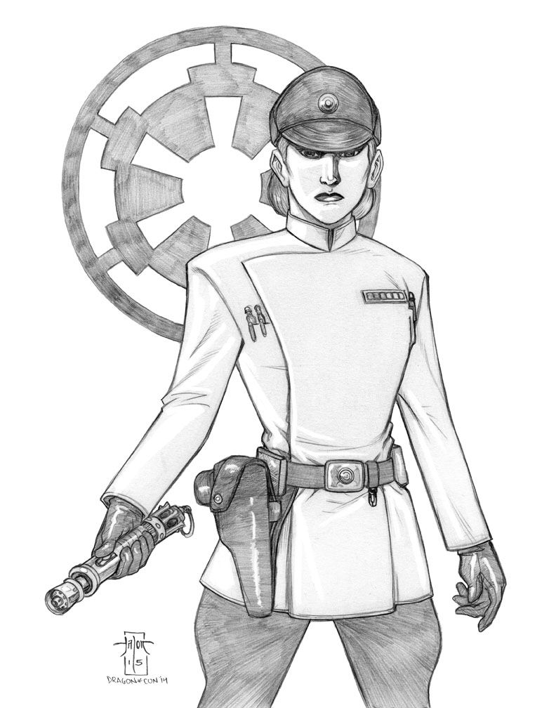 Here's another commission I made for eraofrebellion.com . This is Allegra Ames, an Imperial lieutenant. If you want to know more about her you can visit www.eraofrebellion.com/databan…