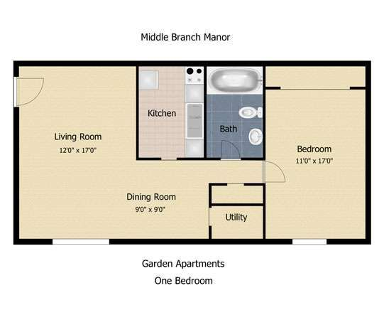 Image result for 600 square foot 1 bedroom basement suite floor