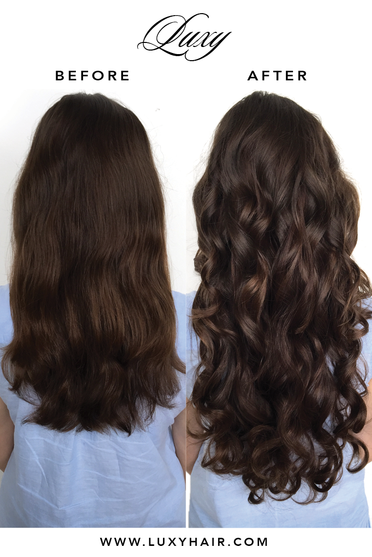 Chocolate brown 4 20 220g chocolate brown hair extensions amazing transformation with 220g chocolate brown luxy hair extensions on forbeslaura pmusecretfo Choice Image