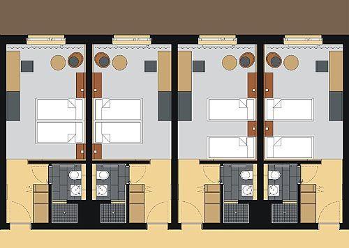 Bildergebnis für hotelzimmer grundriss
