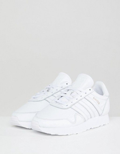 Made In Germany Haven Trainers In Premium White Leather - White adidas Originals IU7qbaPV9