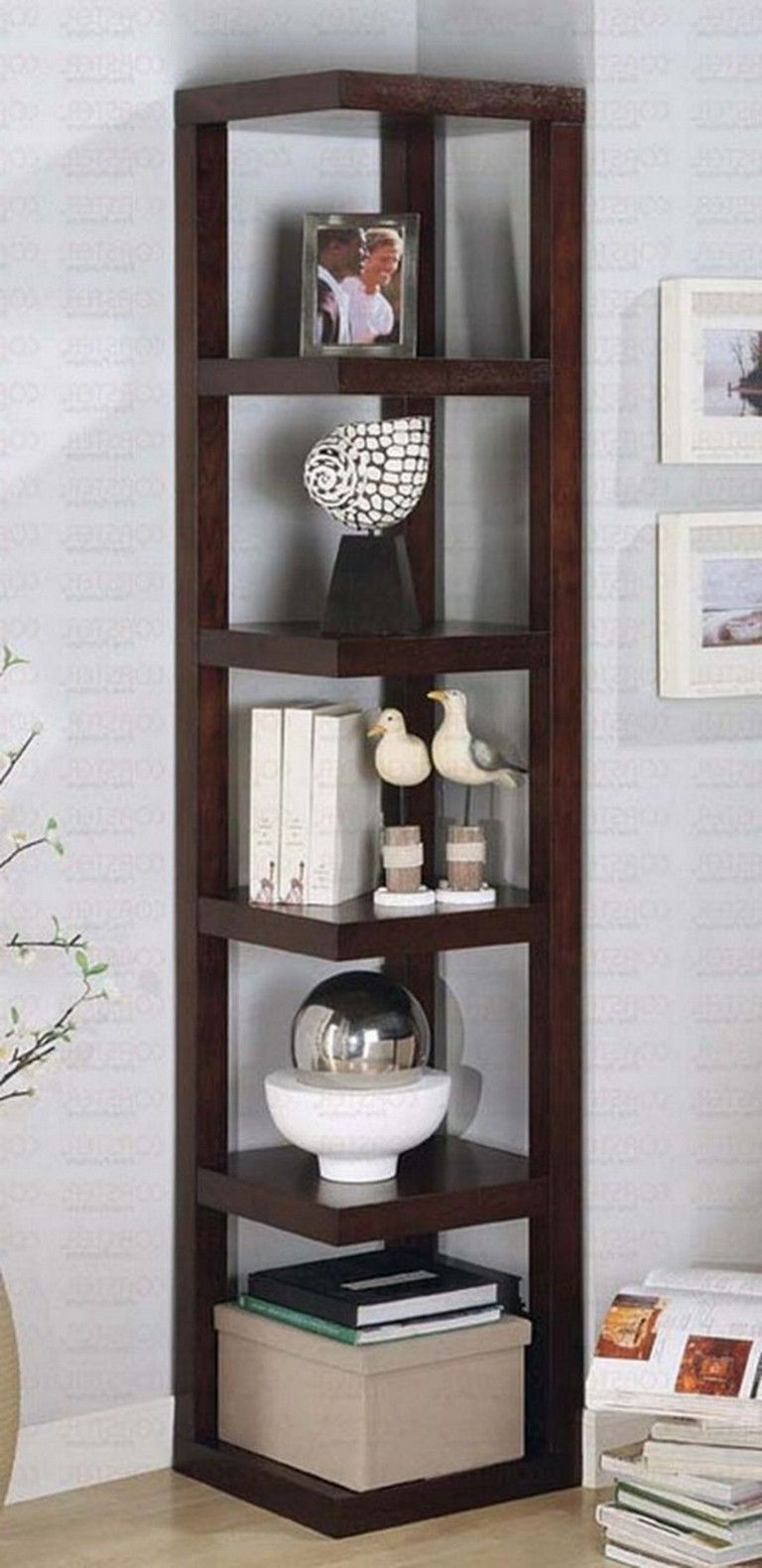23 Marvelous Corner Shelves Design Ideas For Your Living Room