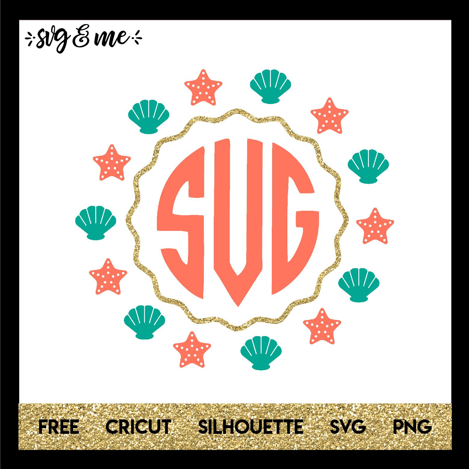 Mermaid Frame SVG & Me Cricut monogram, Cricut free
