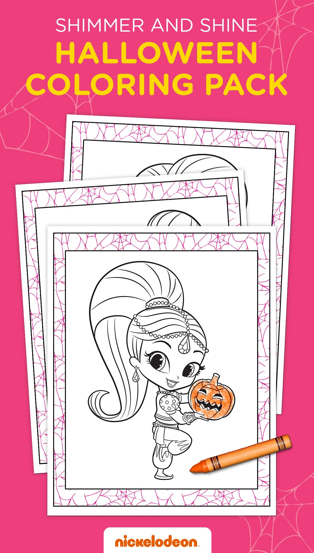 Printable coloring pages shimmer and shine - Shimmer And Shine Halloween Coloring Pack