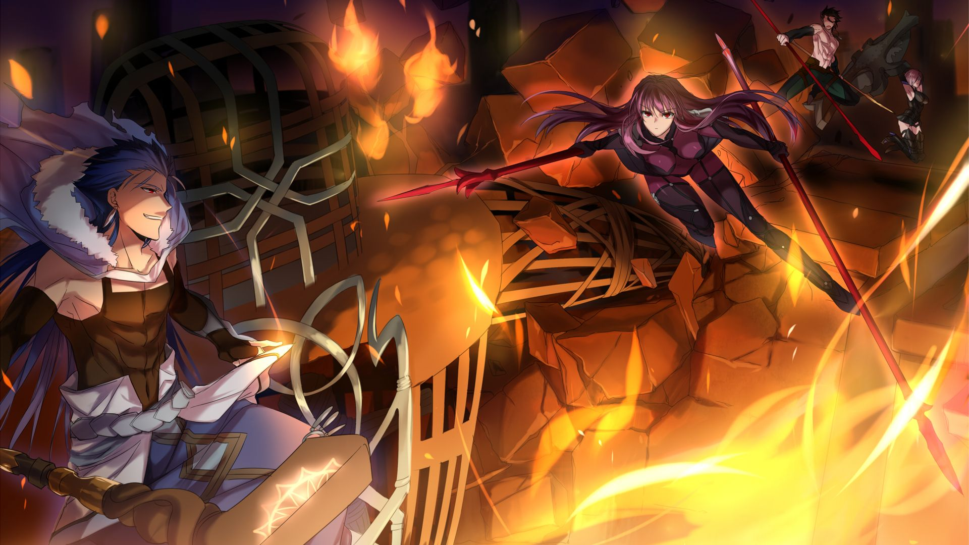 Fate Grand Order Computer Wallpapers Desktop Backgrounds 1920x1080 Id 693362 Scathach Fate Fate Grand Order Lancer Fate Fate grand order wallpaper