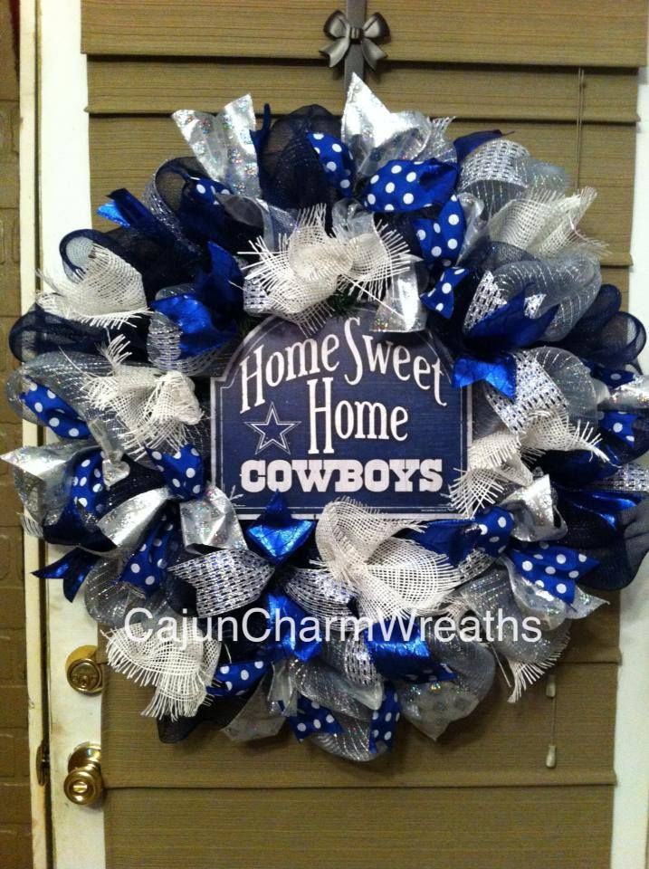 Ribbon Dallas Cowboys Wreath I M Going To Use Seahawk S Colors