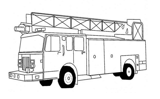 Simple Fire Truck Coloring Pages | coloring Pages | Pinterest | Fire ...