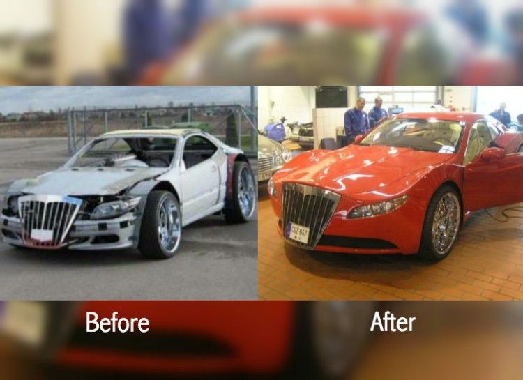 27 Extreme Clunker Transformation Pics Using Foam From Junkyard