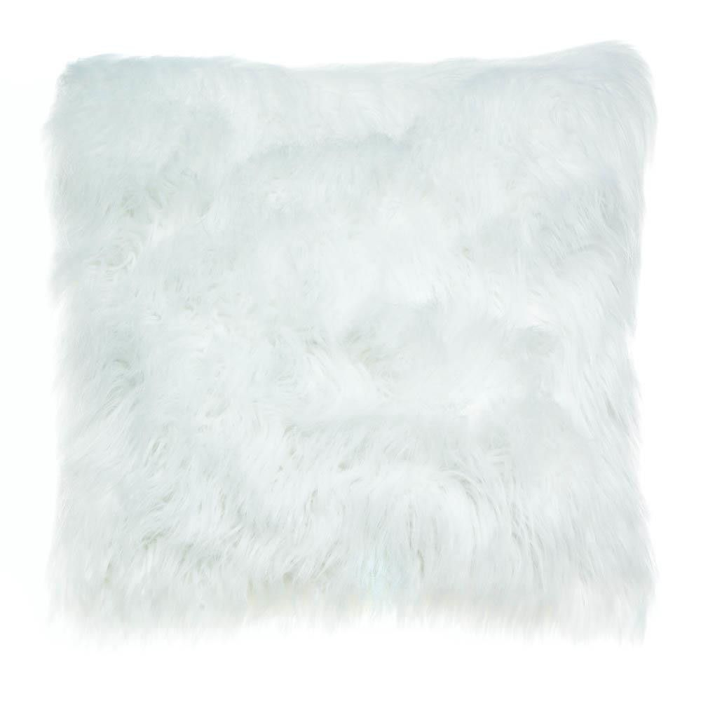 arctic fox white pillow fur marble covers cushions