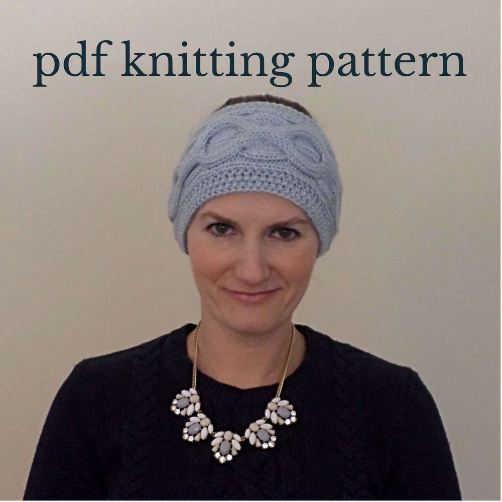 Cable Knit Headband Knitting Pattern, Cable Knit Ear Warmer Pattern ...