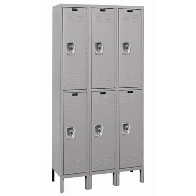 Hallowell Readybuilt 2 Tier 3 Wide School Locker Size 78 H X 36 W X 12 D Color Dark Gray Lockers School Lockers Locker Designs