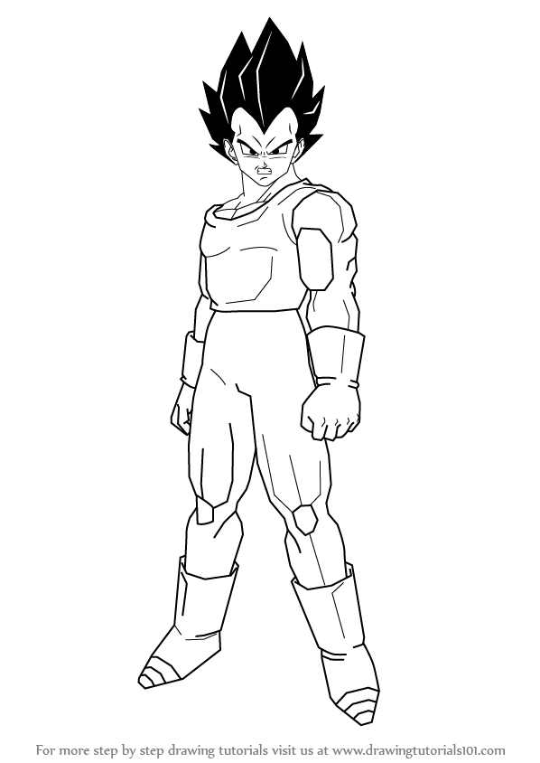 How To Draw Vegeta From Dragon Ball Z Drawingtutorials101 Com Dragon Ball Z Dragon Ball Dragon Ball Artwork