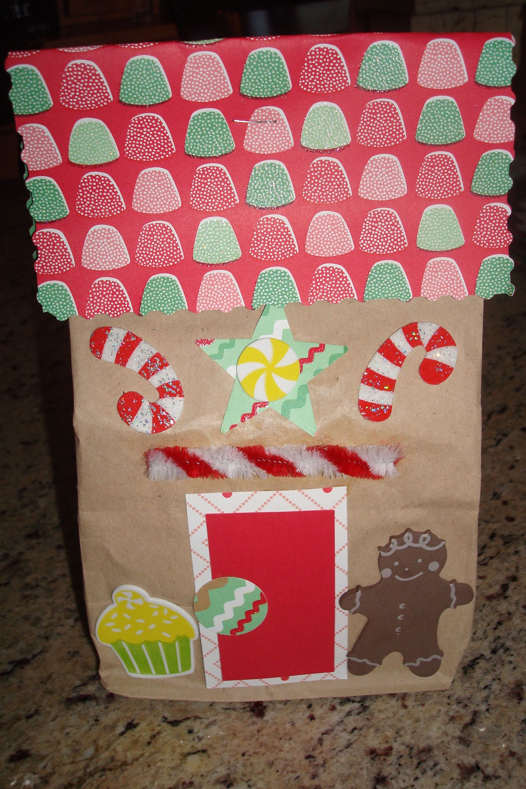 Paper Bag Gingerbread House Christmas Arts And Crafts