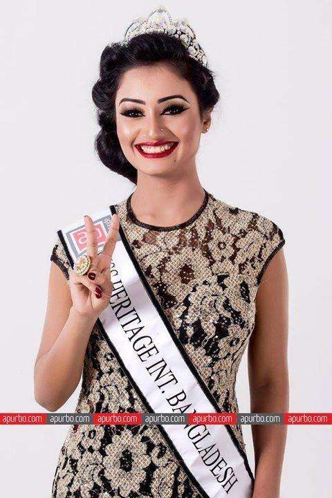 Miss Bangladesh 2015/16 – Vestido inspirado por el diseñador hindú ...