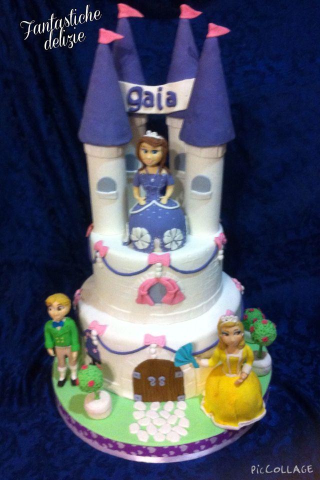 Castello principessa sofia cake