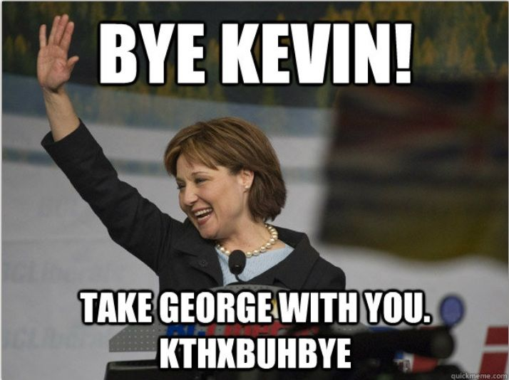 Christy Clark. She's got this. Or not.