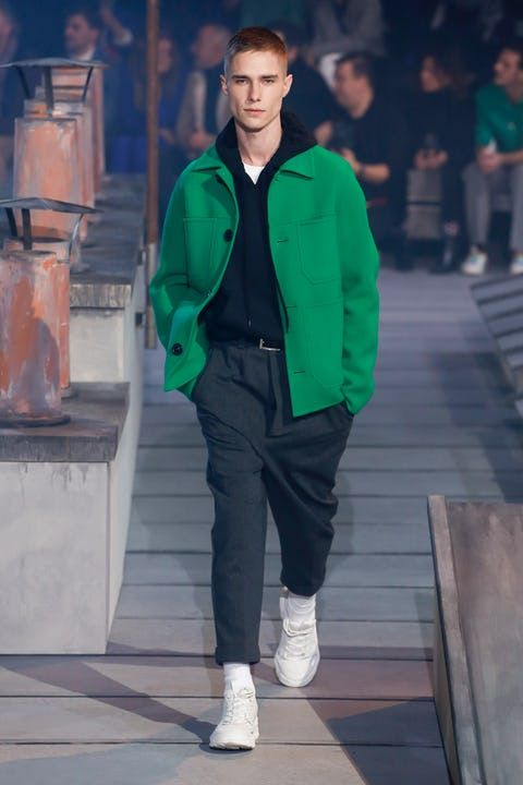 Ami   Menswear  Autumn 2018   Look 7 is part of Mens winter fashion - BoFW