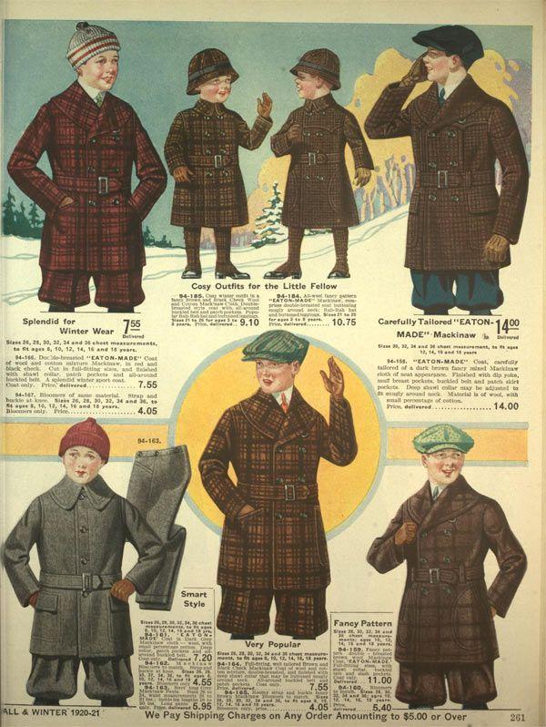 62e6a59ea Boys Coats from a 1921 catalog #vintage #1920s #fashion | 1920s ...