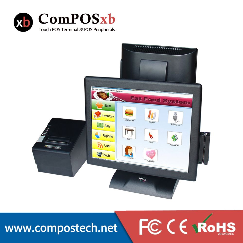 HOT 15 inch Touch Screen Cash Register POS Terminal Direct Touch POS With