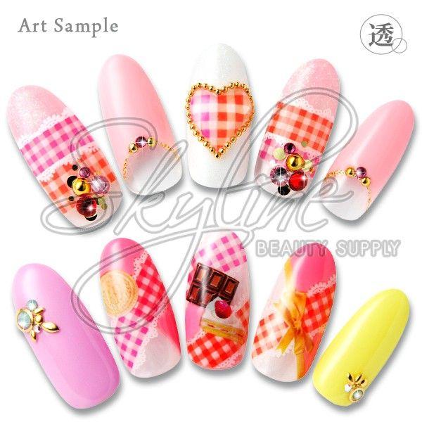 Sha Nail Pro Red Pink Chiffon Check Nail Art Supply
