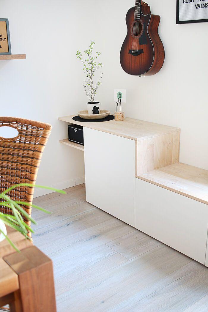 do it yourself aus besta und holz wird ein sideboard mit sitzbank ikea hack living rooms and. Black Bedroom Furniture Sets. Home Design Ideas