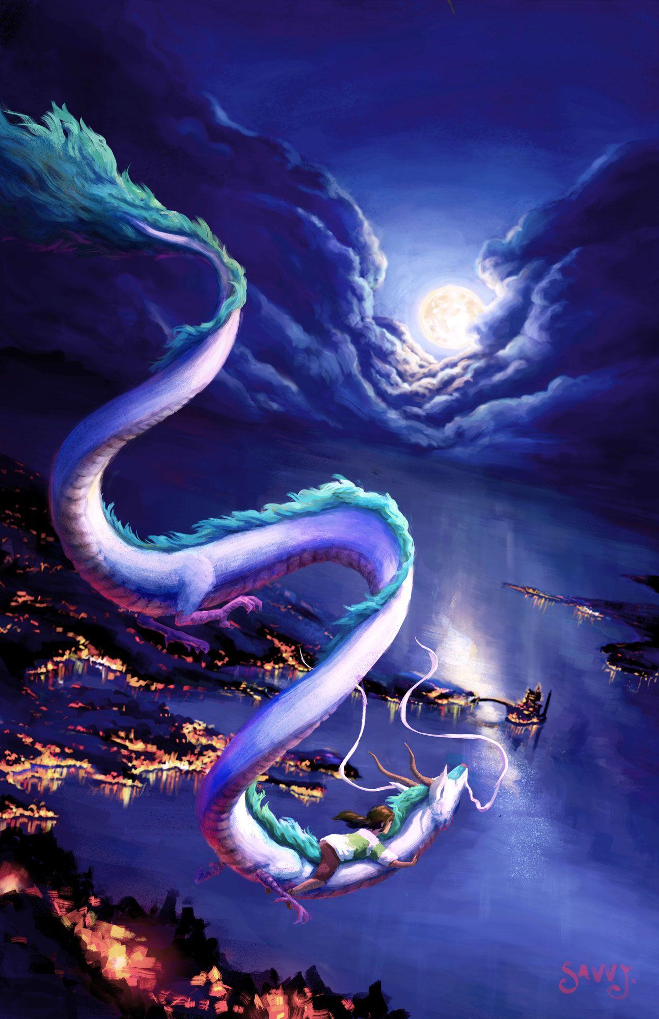 Flying On The River Spirit Art Print Etsy In 2020 Studio Ghibli Spirited Away Studio Ghibli Fanart Studio Ghibli Art