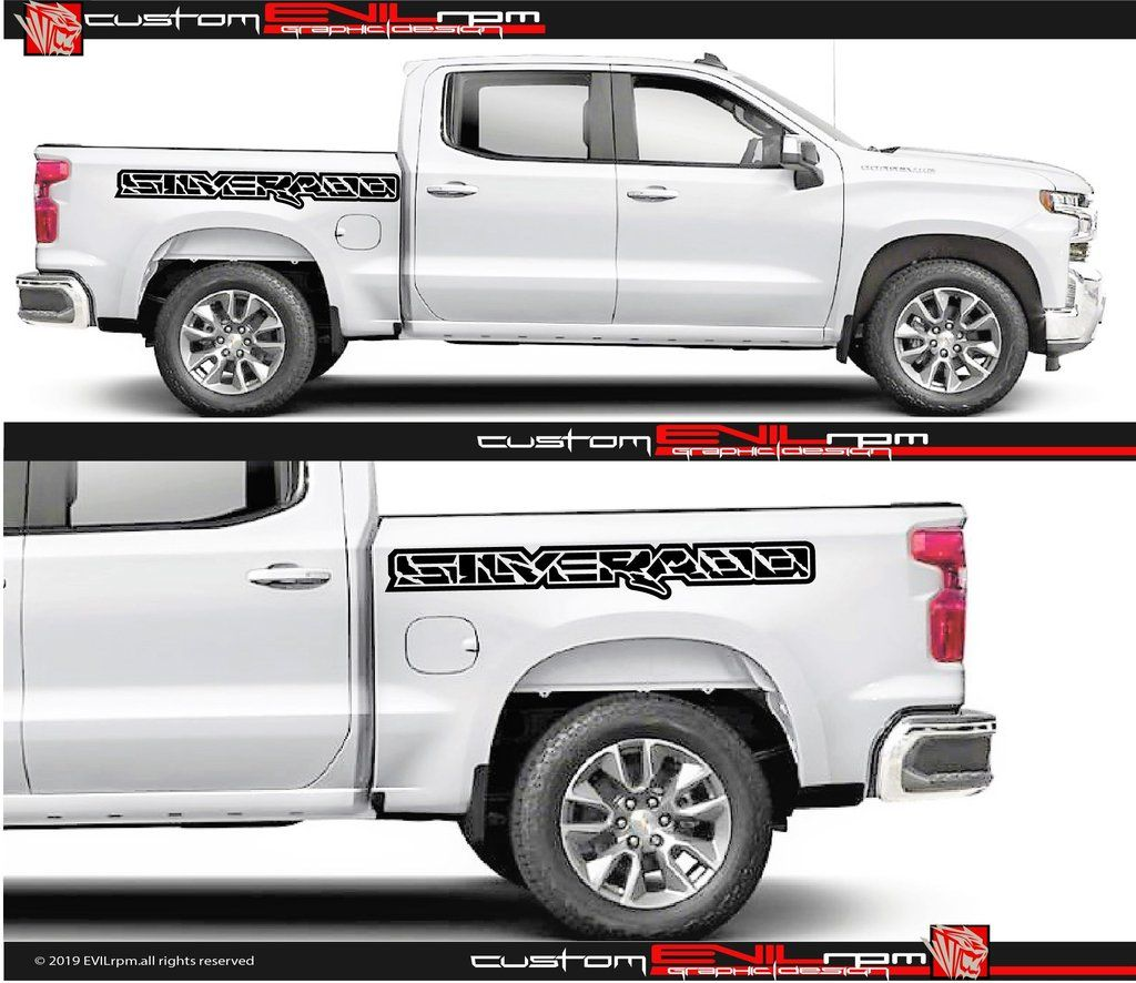 Side Vinyl Truck Bed Sticker Decals For Ford Raptor