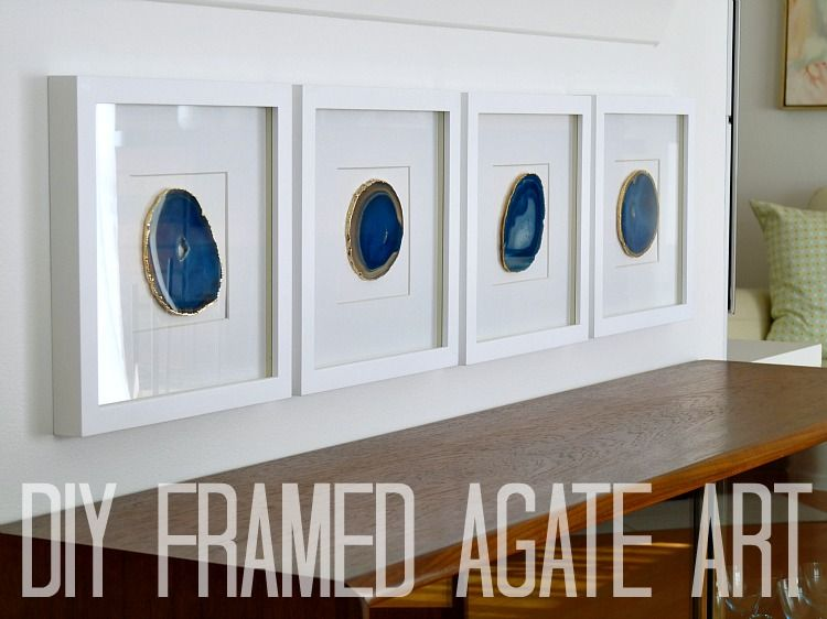 beautiful framed agate slice wall decor agate slice geode.htm diy agate art framed blue agate slices  with images  agate art  blue agate slices