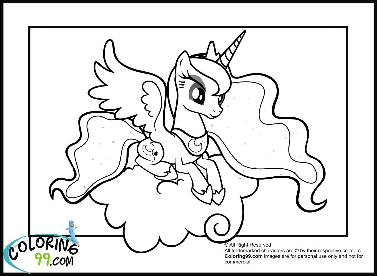 Little princess coloring pages - My Little Pony Princess Luna Coloring Pages