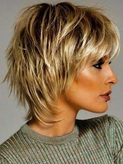 Beautiful Short Shaggy Fall Winter Hairstyles Ideas For Women Blonde Hair34 Short Hair Styles Short Thin Hair Short Shag Hairstyles