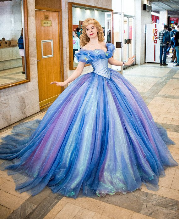 fce3890f71 Full set Cinderella dress 2015 Halloween costume Adult