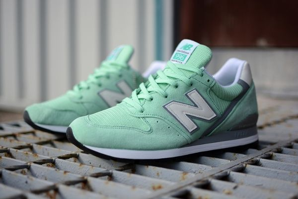 New Balance present a perfect Mint Green Spring colourway of the Made in USA  with detailing.