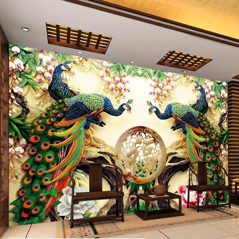 Modern Wall Mural Ideas For Living Room Design Walllivingroom Wallmural Modernlivingroom Modern Mural Mural 3d Wallpaper Home #wall #mural #ideas #for #living #room
