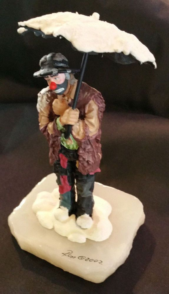 "Ron Lee Clown Statue ""Clown With Umbrella"" 2002 #180/550 *SIGNED"