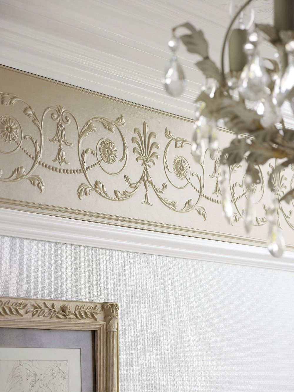 Diana Frieze By Lincrusta Paintable Border Wallpaper Direct Wall Stickers Living Room Living Room Wallpaper Border Classic Home Decor
