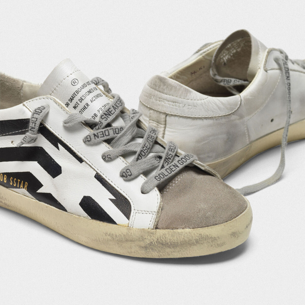 Super-Star sneakers in leather with